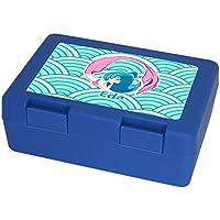 Preisvergleich für Eurofoto Brotdose mit Namen Eda und schönem Motiv mit Meerjungfrau in türkis für Mädchen | Brotbox - Vesperdose - Vesperbox - Brotzeitdose mit Vornamen