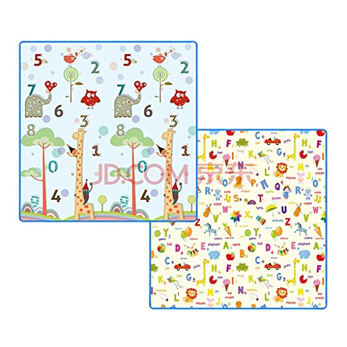 Yingui Children's Alphabet Mosaic Crawling Mat, XPE Thick Foam Puzzle Mat, Baby Green Crawling Mat