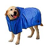 Hundebademantel, schnell trocken Haustier Bad Handtuch, schnell absorbierende Wasser Bademantel für Hund und Katze (XL)