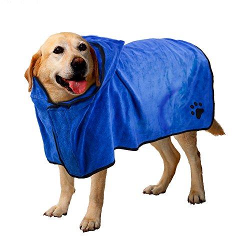 Haustier Bademantel, schnell trocken Haustier Bad Handtuch, schnell absorbierende Wasser Bademantel für Hund und Katze (XL)