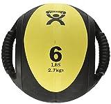 Cando w67561Medizinball Double Grip, Gelb, 2,7kg