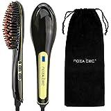 New Noza Tec Electric Hair Straightener Brush