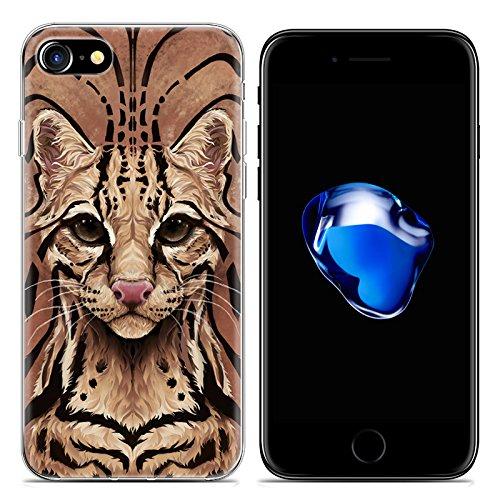 Easbuy Cartoon Tier Handy Hülle Soft Silikon Case Etui Tasche für iPhone 7 Smartphone Cover Handytasche Handyhülle Schutzhülle Mode 6