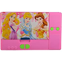 Cinderella Princess Pink Pencil Box for Girls , Big Pencil Box (Blue) Tab Style Double Sided Pencil Box
