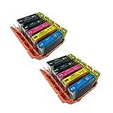 PerfectPrint Kompatibel Tinte Patrone Ersetzen für Canon Pixma iP-4200 4300 4500 5100 5200 5200R 5300 MP-500 530 600 610 800 600R 800R 810 830 950 960 PGI5 CLI-8 (Schwarz/Cyan/Magenta/Gelb, 10-pack)