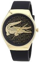 Reloj Lacoste 2000808 de cuarzo para mujer, correa de silicona color negro de Lacoste