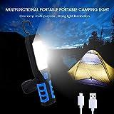STHfficial Lanterne De Camping à LED avec Lampe De Tente à Aimant USB Chargeant Une Lampe De Poche Extérieure à 3 Modes De Lampe De Poche