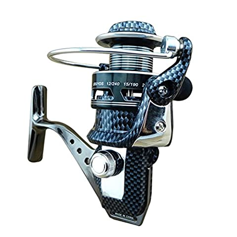 Hrph Muster Spinning Fly Fishing Reel Baitcasting Angelrollen Salzwasser Metallfrontbremse Angelrolle