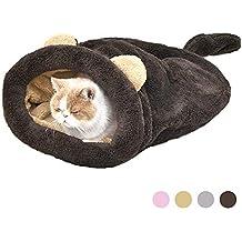 Eono Essentials Saco de Dormir para Gatos Bolsa para Mascotas Suave Cálido Lavable Cama de Gato