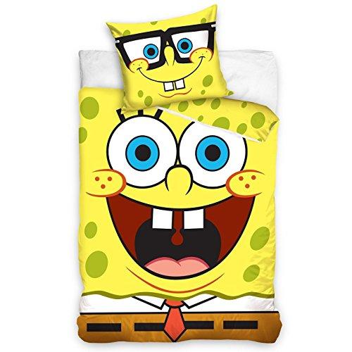 SpongeBob Schwammkopf einzelner Bettbezug und Kopfkissenbezug Set
