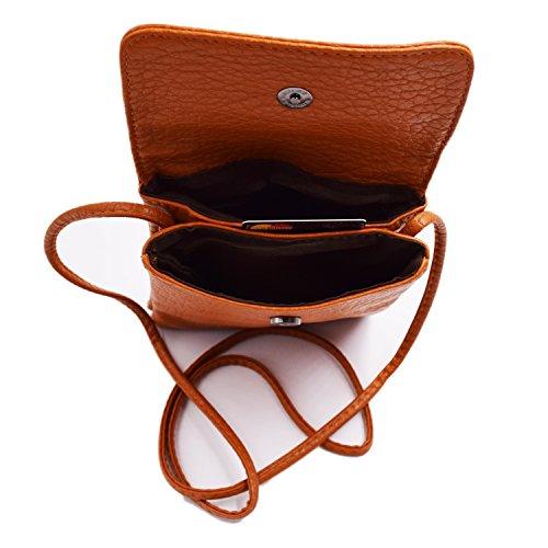 WITERY, Borsa a tracolla donna small, profound black (nero) - CA41 Elegant Brown
