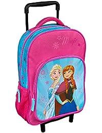 Preisvergleich für Koffertrolley Disney Die Eiskönigin Frozen Völlig unverfroren Anna und Elsa rosa blau