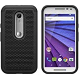 AIBULO Motorola moto g tercera generación Case - Funda para Motorola moto g tercera generación 5.0 pulgadas Smartphone (Negro)