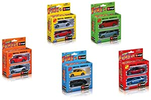 Burago- Bburago Pack 2 Coches colección 1:43-10cm Colores Surtidos (18-30002P)