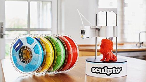 Sculpto+ 3D Drucker, komplett montiert mit Wi-Fi, iOS und Android Konnektivität - Lautlos - Plug&Play Drucker, großen Bauvolumen - 4