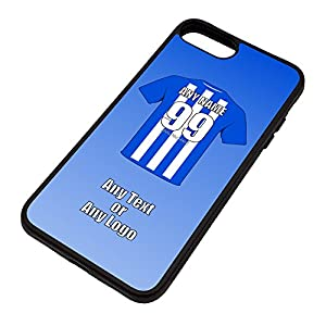 Personalised Gift - Wigan Athletic iPhone Case ( Football Club Design Theme, Colour Options) - Any Name / Message on Your Unique - Apple 6 6s 7 Plus TPU - The Latics