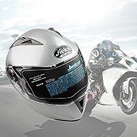 Lente Dual Flip Up Casco Delantero de La Motocicleta (XXL, Plata)