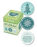 AVERY Zweckform 56863 Sticker auf Rolle, Fröhliche Weihnachtszeit, (38 mm, im Spender) 50 Aufkleber