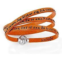 Bracciale Ti Amo In Tutte Le Lingue Del Mondo, Colore: Arancione - Amen Collection - Entrata Unità