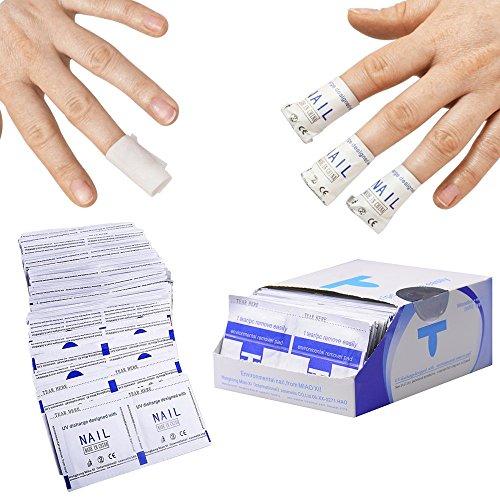 Nail Polish Remover-marken (Professioneller Entferner für Gel-Nagellacke und Acryl in Salonqualität, vorgetränkte Aceton-Heftchen für schnelles und sanftes Einweichen, mit 2gratis Nagelhautentfernern)