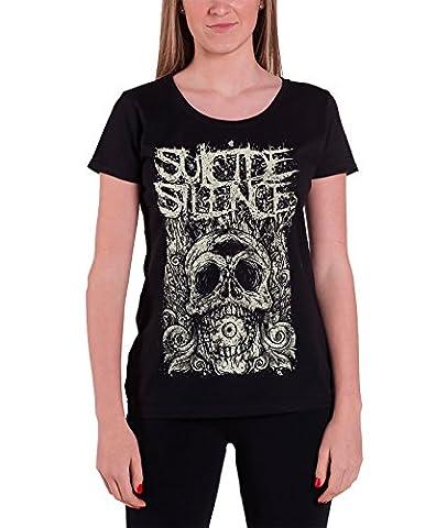 Suicide Silence Death Of Cyclops officiel Femme nouveau Noir Skinny Fit T Shirt