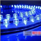 HuaYang 24cm imperméable à l'eaut 24 lumière Blue LED lampe décoration pour voitures