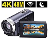 Videokamera Camcorder 4K 48MP WiFi Control Digitalkamera 3,0 ' ' Touch-Screen Nachtsicht Video Camcorder