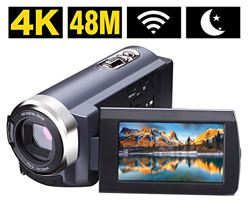 Videokamera Camcorder 4K 48MP WiFi Control Digitalkamera 3,0 ' ' Touch-Screen Nachtsicht Video Camcorder