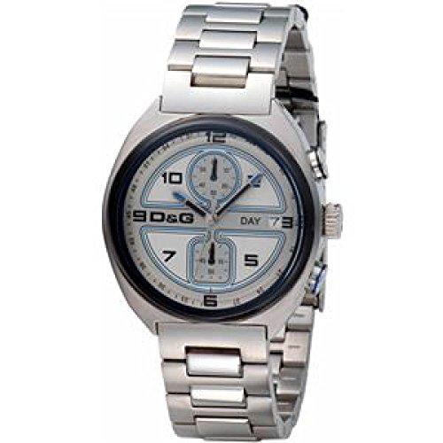 D&G Dolce & Gabbana Dolce Gabbana DW0301 - Orologio da polso da uomo, cinturino in acciaio inox colore argento