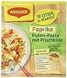 Maggi Familien fix und frisch Paprika Puten-Pasta mit Mais und Frischkäse, ergibt 4 Portionen, 38 g, Beutel