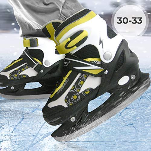 Schlittschuhe inkl. Kufenschoner, einstellbare Eishockeyschlittschuhe -Größenwahl-