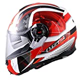 LS2 FF386 Flip-Up Helmet (Red, L)