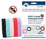 SHD Anti-Laus Haargummis im 20er SPARSET (5 Pack á 4 Haargummi) | Anti Läuse Haarband | 100% natürlicher Schutz, DEET frei | Wirksam bis 15 Tage | 3 Jahre haltbar