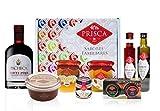 Cesta Gourmet Especial Navidad - 8 Produtos y Cesta - Con Vino de Oporto Tawny