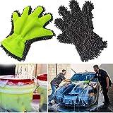 Gaddrt Handschuhe waschen Reinigung Hochwertige Poliertücher Autowaschhandschuhe Chenille-Reinigungshandschuhe 24.5x 28CM