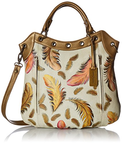 Anuschka-Handpainted-Leather-Convertible-ToteFloating-Feathers-Ivory