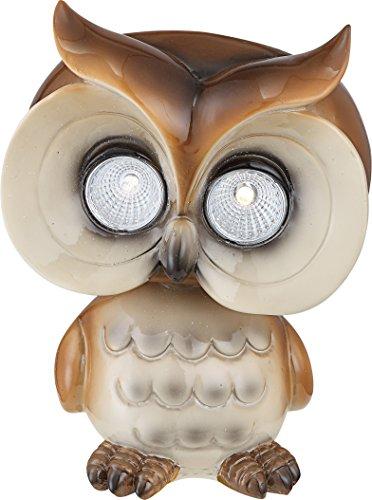 Globo Lampe solaire 2 LED GARDEN Chouette, Marron