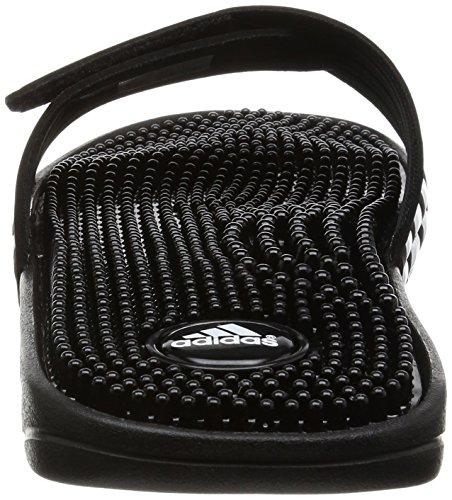 adidas Adissage Unisex-Erwachsene Dusch & Badeschuhe Schwarz (Black/Black/Running White Ftw)