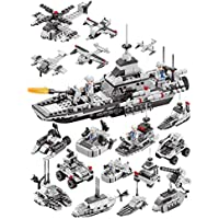 Compatible con Lego Air Carrier Flota del Pacífico Modelo Armado Acorazado de la Armada Rompecabezas montados Bloque insertado Juguete Modelo Bricolaje niño Regalo de cumpleaños