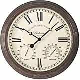 "Smart Solar 5060001 - Reloj bickerton wall clock 15"", 38 x 38 x 5 cm, color blanco"