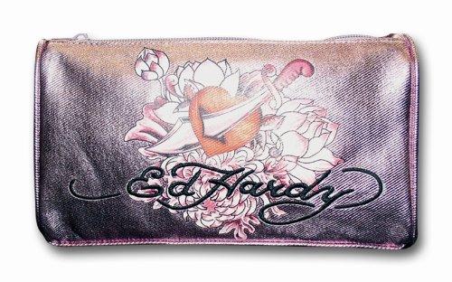Preisvergleich Produktbild Ed Hardy Stiftetasche Triangle Rosa/Metallic