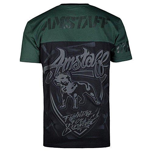 Amstaff T-Shirt Lizard Schwarz/Grün