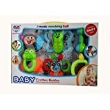 Best Shop Baby TEETHER Rattle-Combination Of Two In ONE-THEETHER Cum Rattle In ONE Pack(6 TEETHER Rattle)