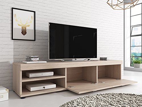 tv m bel konsole tisch schrank elsa 140 cm licht eiche sonoma smash. Black Bedroom Furniture Sets. Home Design Ideas