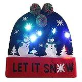 Yvelands Light-up gestrickter hässlicher Pullover Holiday Xmas Weihnachten Beanie