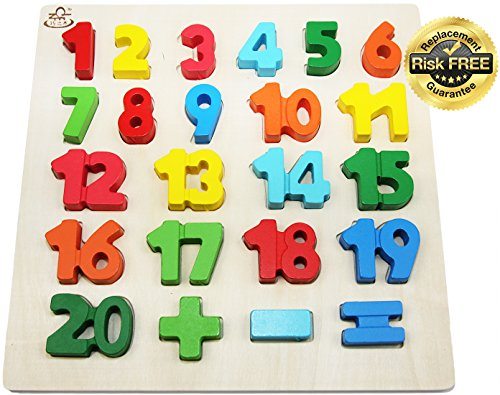 Easy Kid's Toy Puzzle en Bois avec De Grands Nombres...