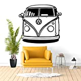 Camper Van Wall Decalcomania del vinile Sticker Decor Decorazione della parete Murale Decalcomania del vinile Home Decor Trasferimento Viaggi avventura Decalcomania da muro57x52cm