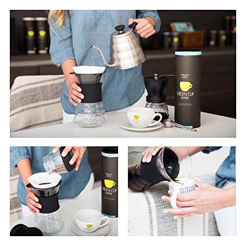 Green Cup Coffee Kaffee Santa Elena - der Hochlandkaffee aus Costa Rica - sortenreine Bio Bohnen in Premium Qualität - Kaffeebohnen ideal für French Press - 227g Dose gemahlen