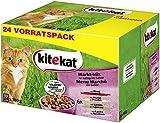 Kitekat Katzenfutter Markt-Mix in Gelee, 48 Beutel (2 x 24 x 100 g)