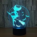Luces inteligentes para el hogar Luces en 3D coloridas Control táctil Noche Noche de moda simple Ambiente para niños Luces decorativas ## 7